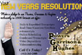 A postcard I designed for a New Years promotion for Powers, Garrison & Hughes